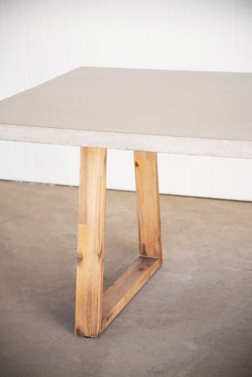 2.0m Sierra Elkstone Rectangular Dining Table - Speckled Grey with Light Honey Legs