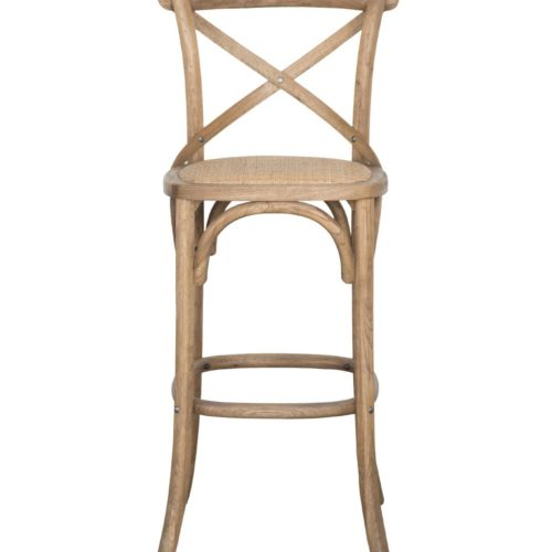 Provincial Cross Back Bar Stool