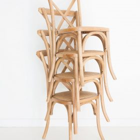 Stackable Provincial Cross Back Chair - Natural Oak Image