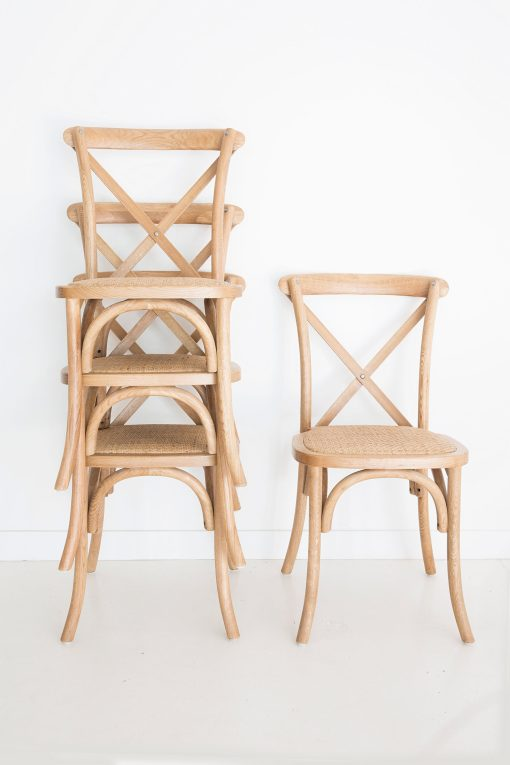 Stackable Provincial Cross Back Chair