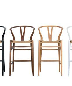 Wishbone bar stools
