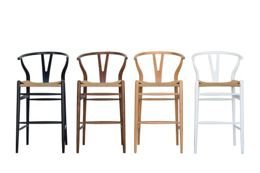 Wishbone bar stools