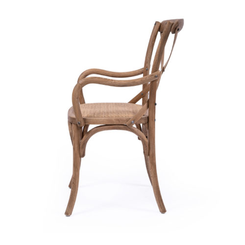 Provincial cross back armchair