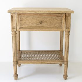 Hamilton Bedside Table - Weathered Oak - 57cm Wide Image