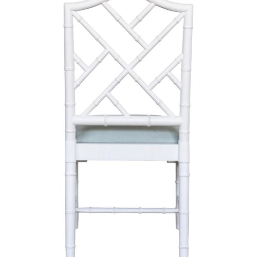 White Chippendale Dining Chair