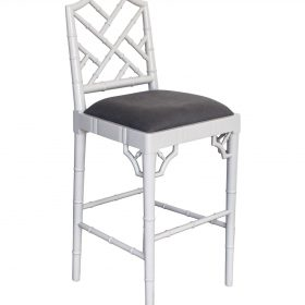 Chippendale Counter Stool - French Grey Image
