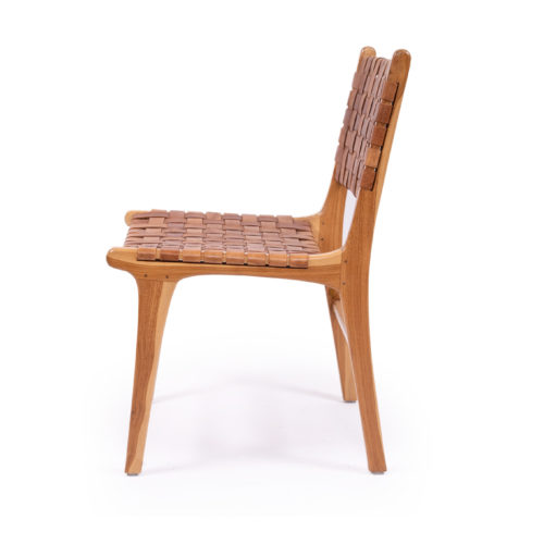 Pasadena Woven Leather Side Chair