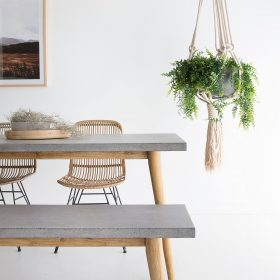Oslo Dining Table 1 8m X 9m Speckled Grey Abide