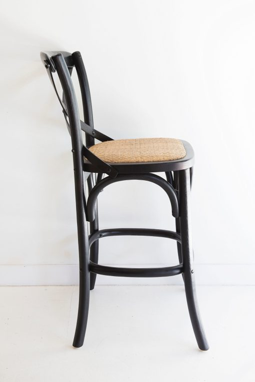 Provincial Cross Back Counter Stool