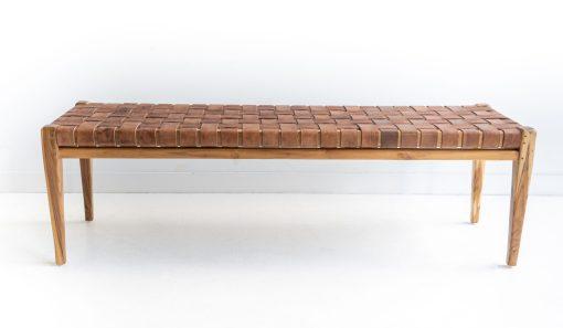 Pasadena Leather Strap Bench