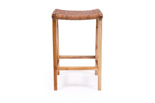 Pasadena Leather Strap Backless counter Stool