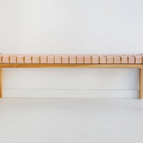 Pasadena leather strap bench
