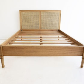 Hamilton Cane Bed - King Size - Low End - Weathered Oak Image