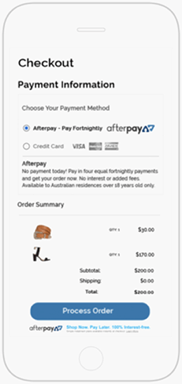 afterpay step 1