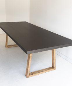 2.0m Sierra Elkstone Rectangular Dining Table - Ebony Black with Light Honey Legs