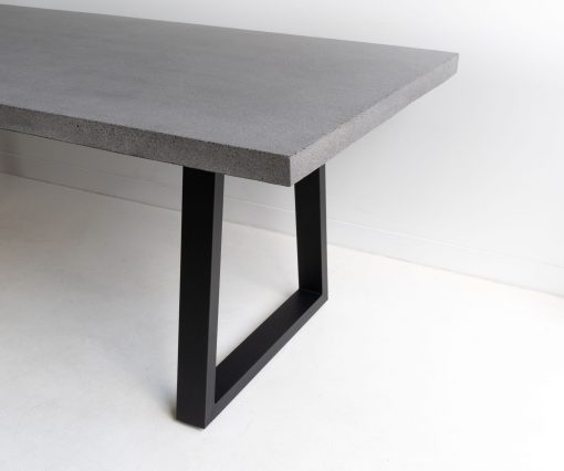 1.6m Sierra Rectangular Dining Table - Speckled Grey with Black Powder Coated Legs