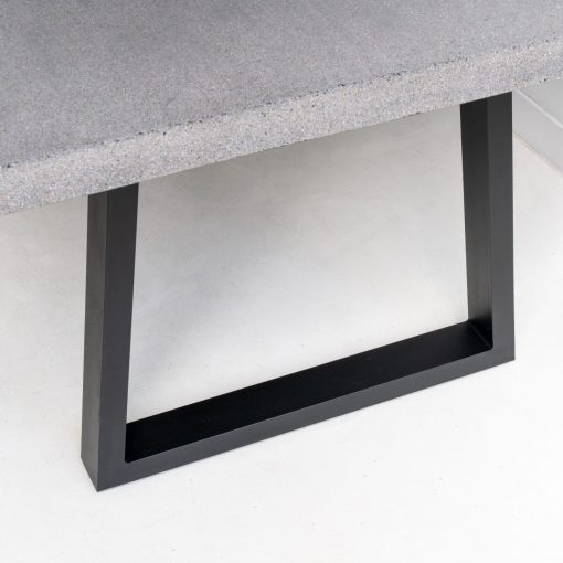 1.8m Sierra Rectangular Dining Table - Speckled Grey with Black Powder Coated Legs