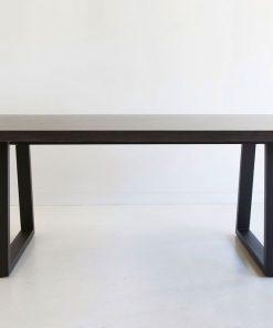2.4m Sierra Elkstone Rectangular Dining Table - Ebony Black with Black Powder Coated Legs