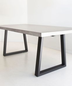 2.0m Sierra Elkstone Rectangular Dining Table - Speckled Grey with Black Powder Coated Legs
