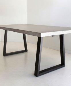 3.0m Sierra Elkstone Rectangular Dining Table - Speckled Grey with Black Powder Coated Legs